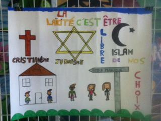 Concours de dessin sur la laïcité au collège Jean Moulin
