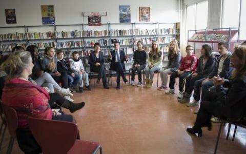 Photos Visite M. Valls et N. Vallaud-Belkacem